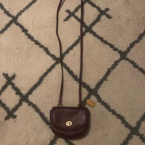 Maroon small cross body purse